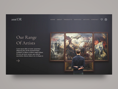 Range of Artists minimal digital design webdesign design web ux website ui painting gallery art gallery antiques antique artist art