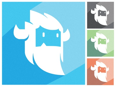 Possible Yeti Color Pallete flat color yeti pallete face logo beard monster horns minimal