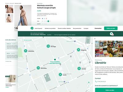E-commerce website — Maps merchants map product page covid19 pandemic branding website e-commerce product design ux ui
