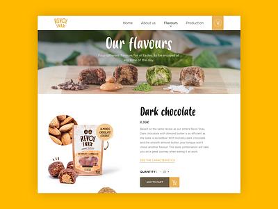 Product website #1 chocolate food sketch web design typography shop product website ui ux graphic  design design