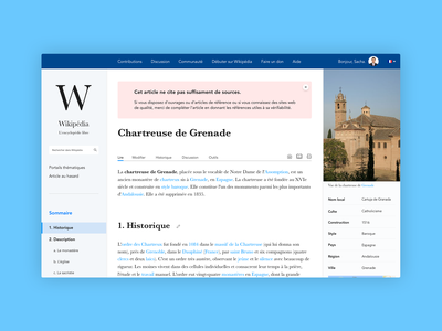 Redesign of Wikipedia institutional article website redesign wikipedia sketch letter web ux ui vector logo branding typography design graphic  design