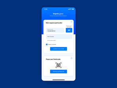 Application for French taxes icon mobile ios sign in form goverment taxes flat minimal app web sketch ux ui branding vector flat design vector art design graphic  design
