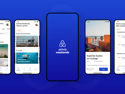 Weekend booking app concept airbnb weekend travel ux app booking product design ui logo branding design graphic  design