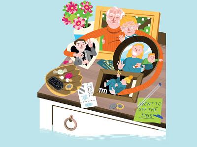 papa & nana counter portrait family brush illustrator photoshop elderly illustration art illustration grandparents