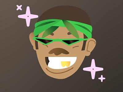 li'l G green hood photoshop illustrator sticker vector art vector character design illustration
