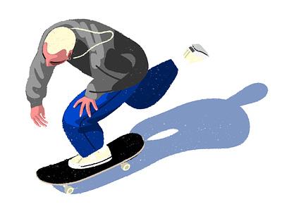 li'l cruise photoshop board style editorial illustration skate skateboard cruise