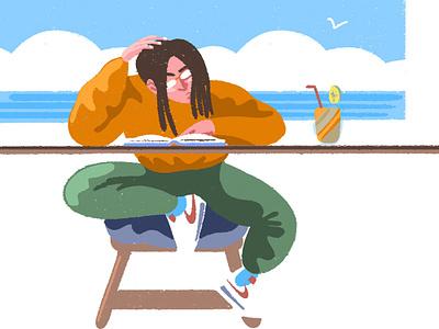 study hard character design wacom digital illustration colours style photoshop brush illustration study