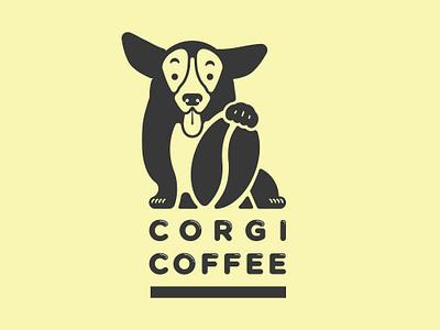 Corgi Coffee - Logo identity branding agency branding coffee shop corgi dog vector coffee logo