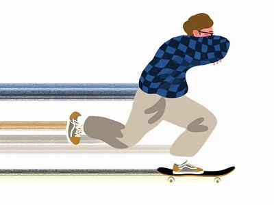 skate study kinetic sketch design adobe illustrator photoshop illustration skateboard skate