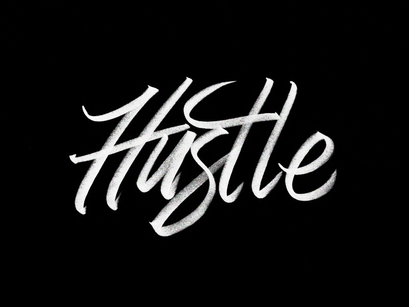 Hustle logo vintage americana script vector handstyle unionduesdesign chessin dustin drawing