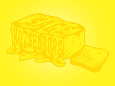 Butta illustration butter snow lettering halftone drawing vector yellow chessin dustin chessin goodtype