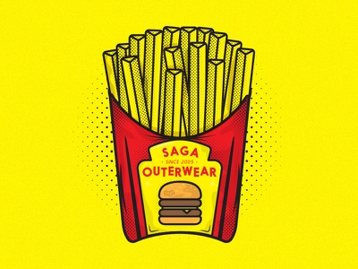 You want fries with thaaat. tag logo food fries burger hangtag dustin chessin unionduesdesign