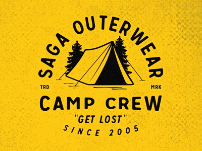 Camp Crew Graphic outerwear saga uniondues chessin dustin vintage logo tshirt apparel tent camp