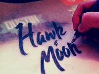 Lettering for Hawk & Moon
