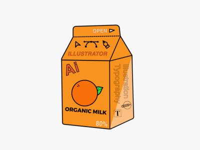 Adobe Illustrator Milk Carton