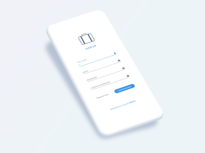 Sign Up ui ux design clean mobile sign up screen 001 daily ui