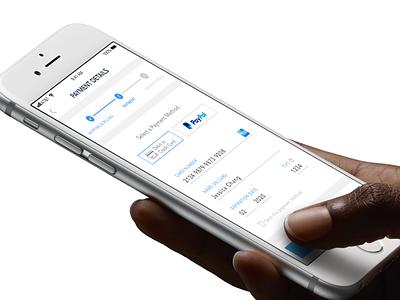Credit Card Checkout payment details progress bar simple heem mobile design ux ui daily ui 002