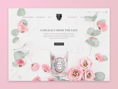 Landing Page ecommerce rose delight design ux ui landing page candle diptyque 003 daily ui