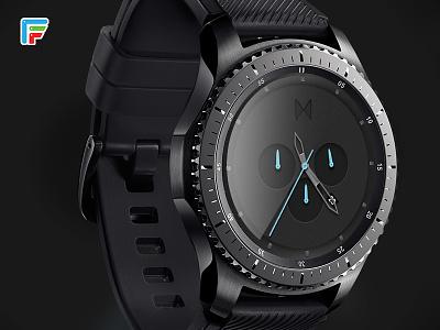 MVMT watch face smart watch futuristic laser nerdy fui user interface scifi star trek android wear tizen android google
