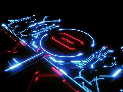 Dropzone - Styleframe scifi music festival vj dj dropzone map fui ui