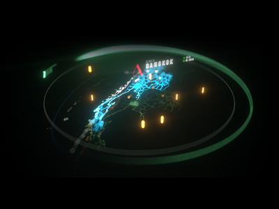 Scifi Map scifi music festival vj dj dropzone map fui ui