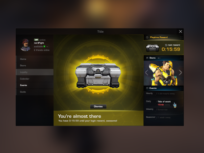 Firefall - Playtime reward yellow fui mmorpg space fps mmo light scifi firefall