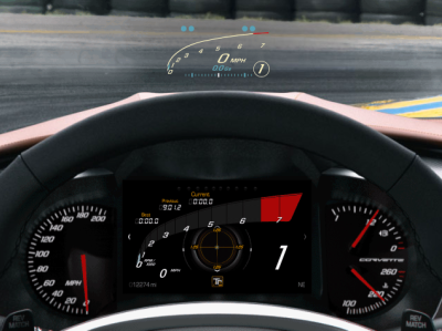 Corvette User Interface - Track mode automobiles need for speed car race car racecar supercar corvette infotainment automotive design hmi automotive