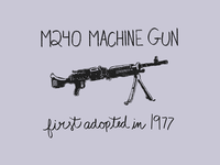 85/100: | M240 |