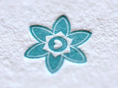 Tahoe Flower illustration letterpress flower