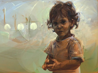 Study: Untitled child digital painting portrait alchemy photoshop