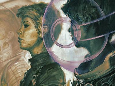 Legacy IV: Retrospective scifi science fiction editorial female woman portrait alchemy photoshop