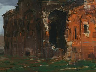 WIP: Church alchemy photoshop digital painting environment