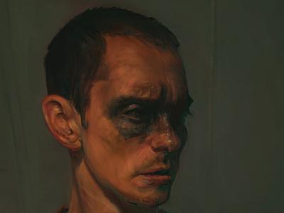 WIP: Self Portrait portrait male digital painting photoshop