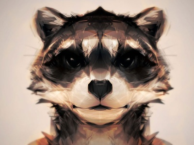 Trashpanda character-design anthro photoshop alchemy raccoon portrait