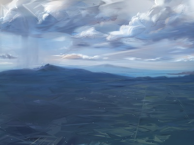 DFW to ABQ photoshop alchemy sky clouds painting landscape travel airport flight