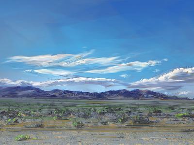 Death Valley tourism travel scenery painting nevada reno vegas las landscape desert
