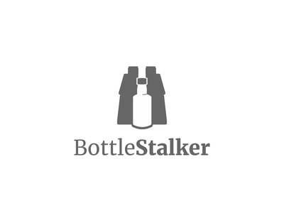 Bottle Stalker Logo drinks logo branding