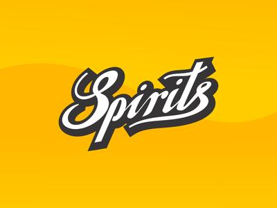 Vape Brand Spirits typogaphy logo branding