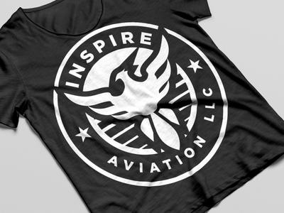 Inspire Aviation aviation typogaphy logo branding