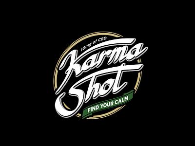 Karma coffee typogaphy logo branding