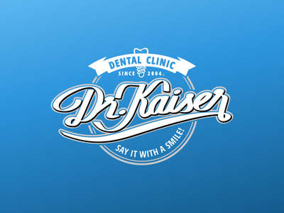 Dr. Kaiser dental care typogaphy logo