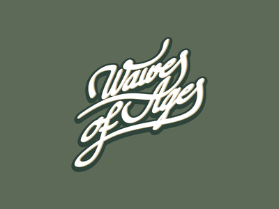 Waves of Ages retro design branding typogaphy logo