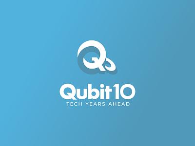 qubit logo q logo design typogaphy branding logo