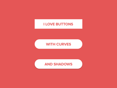 Button Love rounded curvy shadow button