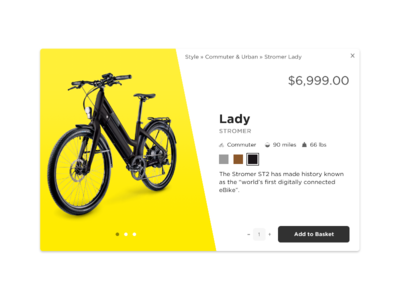Lady - DailyUI #12 dailyui product e-commerce bike