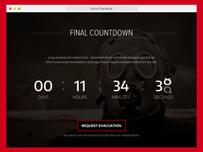 Final Countdown - Apocalyptic Timer - DailyUI014