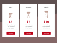 Coffee Pricing - DailyUI 30