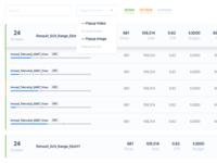 Dashboard View data simple clear clean blue dashboard