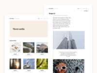 New Portfolio Site in Progress jekyll product design personal user interface portfolio