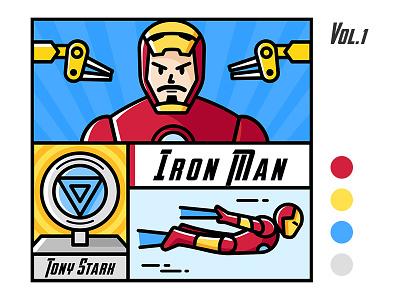 Iron Man I tony stark illustration marvel